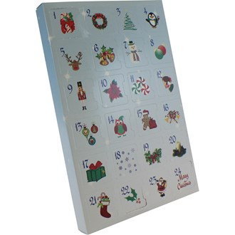 Advent Calendar Chocolate or Cookie Box (Blue) - Seasonal Item