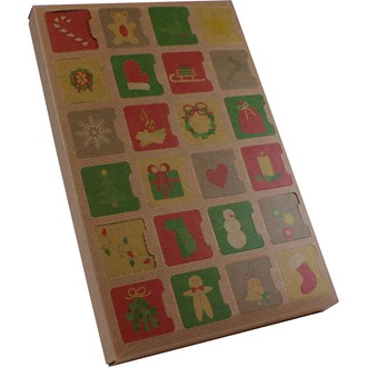 Advent Calendar Chocolate or Cookie Box (Kraft) - Seasonal Item