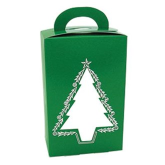 Christmas Tree Window Chocolate or Cookie Box - Seasonal Item