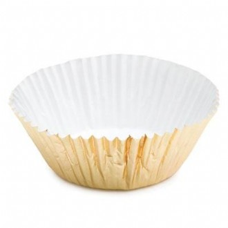 Gold Foil Baking Cups - 50 Pack