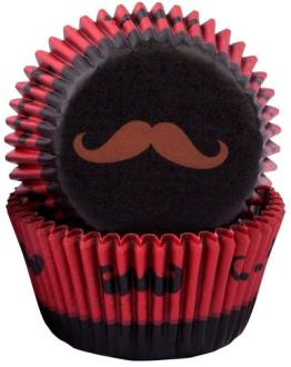 Moustache Cupcake Cases  - 50 Pack